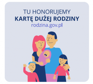 KDR - Tu honorujemy Kartę Dużej Rodziny