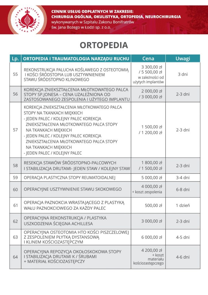 Ortopedia, cz5